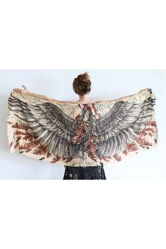 Wings Scarf light brown