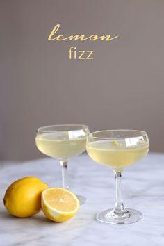 lemon fizz cocktail