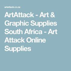 ArtAttack - Art & Graphic Supplies South Africa - Art Attack Online Supplies South Africa Art, Online Art, Art Supplies, Google
