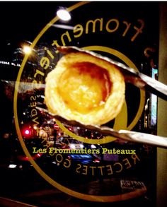 Pasteis de Nata Les Fromentiers Puteaux. Les Fromentiers Puteaux custard tartlet.