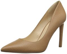 Nine West Women's Tatiana Leather Dress Pump, Medium Natural, 8.5 M US