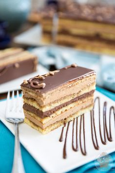 While making Opera Cake from scratch will have you spend a hefty chunk of time in the kitchen, I swear it's so decadent, it's totally worth the effort. Opera Cake, Coffee Buttercream, Cake Recipes, Dessert Recipes, Cake Board, Let Them Eat Cake, Cupcake Cakes, Cupcakes, Just Desserts