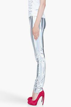 HUSSEIN CHALAYAN Holographic Leggings