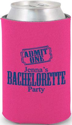 """Admit One"" Bachelorette Party #bachelorette #koozies"
