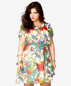 Bird & Floral Print Chiffon Dress | FOREVER 21 plus - Doesn't it remind you of Costa Rica?