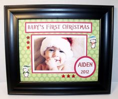 Baby's First Christmas Picture Frame  by memoreasykeepsakes, $35.00