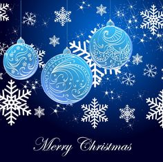 snowflake background and blue christmas balls Merry Christmas To All, Elegant Christmas, Blue Christmas, Christmas Balls, Christmas Holidays, Beach Christmas, Christmas Things, Christmas Paper, Christmas Ideas