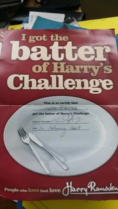 @HarryRamsdensUK Yes I took on the HUGE fish and chip battle. I totally won! #UK  #food