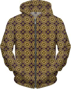 Crossed Floral Lace in God on Purple Hoodie by Terrella available at  https://www.rageon.com/products/crossed-floral-lace-in-gold-on-purple?aff=BSDc on RageOn!