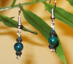 Blue-Green Chrysocolla and Crystal Artisan by MettasCreations