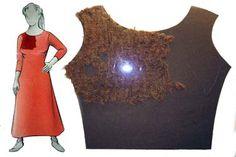 Tunic fragment, century, Wikinger Museum Haithabu set in sleeves Viking Garb, Viking Reenactment, Viking Dress, Viking Warrior, Viking Woman, Viking Clothing, Historical Clothing, Danish Vikings, Viking Culture
