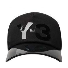 Y-3 Visor Peak Baseball Cap Black (€57) ❤ liked on Polyvore featuring accessories, hats, ball cap, baseball caps, baseball cap hats, yohji yamamoto and ball cap hats
