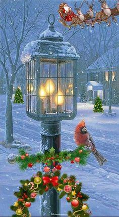 Merry Christmas Gif, Christmas Scenery, Christmas Rock, Christmas Lanterns, Christmas Past, Retro Christmas, Christmas Bells, Christmas Themes, Christmas Decorations