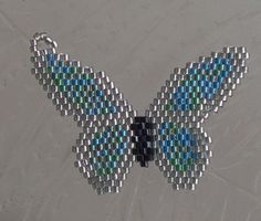Brick Stitch Butterfly Pendant - Beading Daily