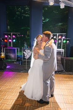 A sweet first dance with Cape Fear Shoals in the background- Bella Rose Photography