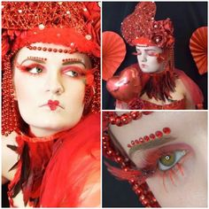 Lash Love Valentine Fantasy lash art Coloured lashes  Cindy Nicholls iLashtique