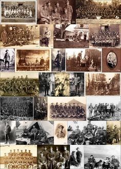 The Great War Collage - Don't Forget The Diggers - World War One, Photos, WW1, Diggers, AIF, Research, Anzac,
