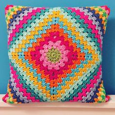 Likes, 31 Comments - Neverland (neverlands_hobbyworld): . Diy Crochet Pillow, Crochet Cushion Cover, Crochet Diy, Crochet Home, Crochet Stitch, Motif Mandala Crochet, Crochet Motifs, Granny Square Crochet Pattern, Crotchet Patterns