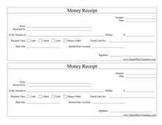 Printable Receipts Great For Cash And Other Payment Transactions This Printable .