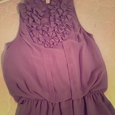 Sleeveless lavender top Adorable lavender Ruffled top.  Size small Tops Blouses