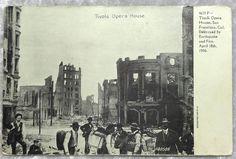 1906 San Francisco Earthquake Tivoli Opera House Postcard, California, Fire, Ruins, Antique Vintage Photo by OakwoodView, $8.00