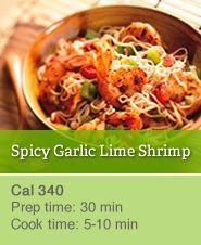 Spicy Garlic & Lime Shrimp