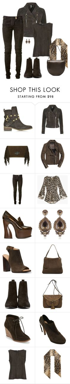 """""""Suede"""" by christy-leigh-1 ❤ liked on Polyvore featuring See by Chloé, Topshop, Superdry, Balmain, Maison Margiela, Ranjana Khan, Michael Kors, The Row, Yves Saint Laurent and Patricia Nash"""