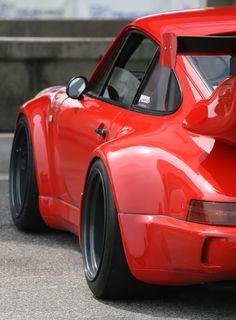 Blood red Porsche.