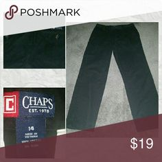 CHAPS Boys Pants Excellent condition, Boys black chino style pants, flat front with pockets and back button closure pockets, straight leg, smoke free home, great for holidays, special events, or for school uniforms Chaps Bottoms Casual