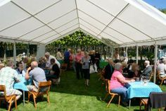 Extend your home with a Gala Tent Marquee or Gala Shade Gazebo, perfect for garden parties with loved ones