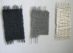 Zoe Rimmer, Finland - Ceramics studio, Suomenlinna - Tiles looking as though they are weavings