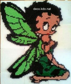 Fairy Betty Boop hama perler beads by deco.kdo.nat