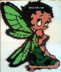 Fairy Betty Boop hama perler beads by deco.kdo.nat