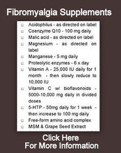 Supplements for Fibromyalgia ...