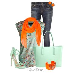Mint and neon by madamedeveria on Polyvore