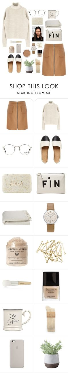 """""""vanilla"""" by svsix ❤ liked on Polyvore featuring Phase Eight, Alasdair, Ray-Ban, Fresh, Clare V., Crate and Barrel, Junghans, H&M, Paul & Joe and Butter London"""