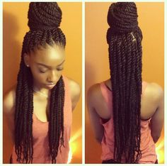 Awesome Marley twists braids Must try - Afro Fahionista Havana Twists, Havana Twist Styles, Kinky Twists, Protective Hairstyles, Braided Hairstyles, Protective Styles, Layered Hairstyles, Flat Twist, Braid Styles