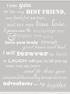 Pretty wedding vows