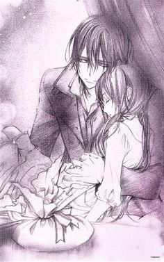 Gifts for Yuki. Anime Couples, Cute Couples, Yuki And Kaname, Manga Art, Anime Art, Pixel Games, Vampire Knight, Couple Aesthetic, Mystic Messenger