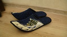 CHRISTMAS/ Quilt / Patchwork Handmade  slippers by SHaMaNsThings