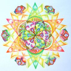 Kiemkracht - mandala by Hanne van Everdink Flower of Life/ geometrisch patroon