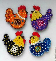 """Купить магниты """"Курочки и Петушки"""" - комбинированный, магнит на холодильник, магнит, магнит в подарок, петушок, петух"""