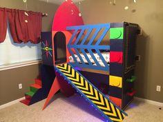 Rocket Ship Toddler Bed