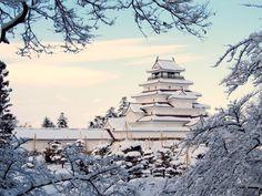 Tsuruga Castle in Fukushima, Japan by aizu on PHOTOHITO Japan Country, Japanese Castle, Imperial Palace, Tokyo Travel, Naha, Buddhist Temple, Fukushima, Culture Travel, Okinawa
