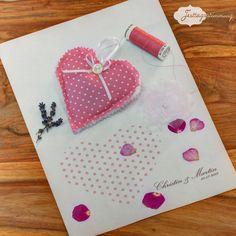 #Lavendelherz als #Gastgeschenk mit #Polkadots von Festtagsstimmung