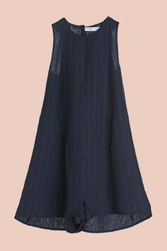 Tuta pantaloncino in lino gessato - ottod'Ame
