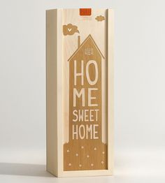 Home Sweet House Wine Box by Artificer Wood Works on Scoutmob Shoppe