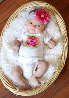 Take Monthly Baby pictures for the 1st year! I've seen a lot of these but I like the laundry basket idea.