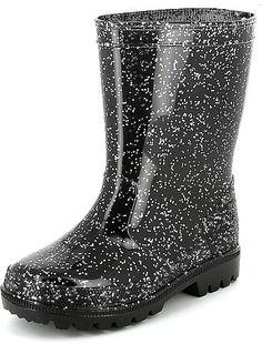 Bottes de pluie pailletées                              noir Petite fille  - Kiabi