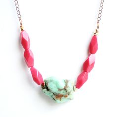 Fab.com | Chrysoprase Red Jade Necklace